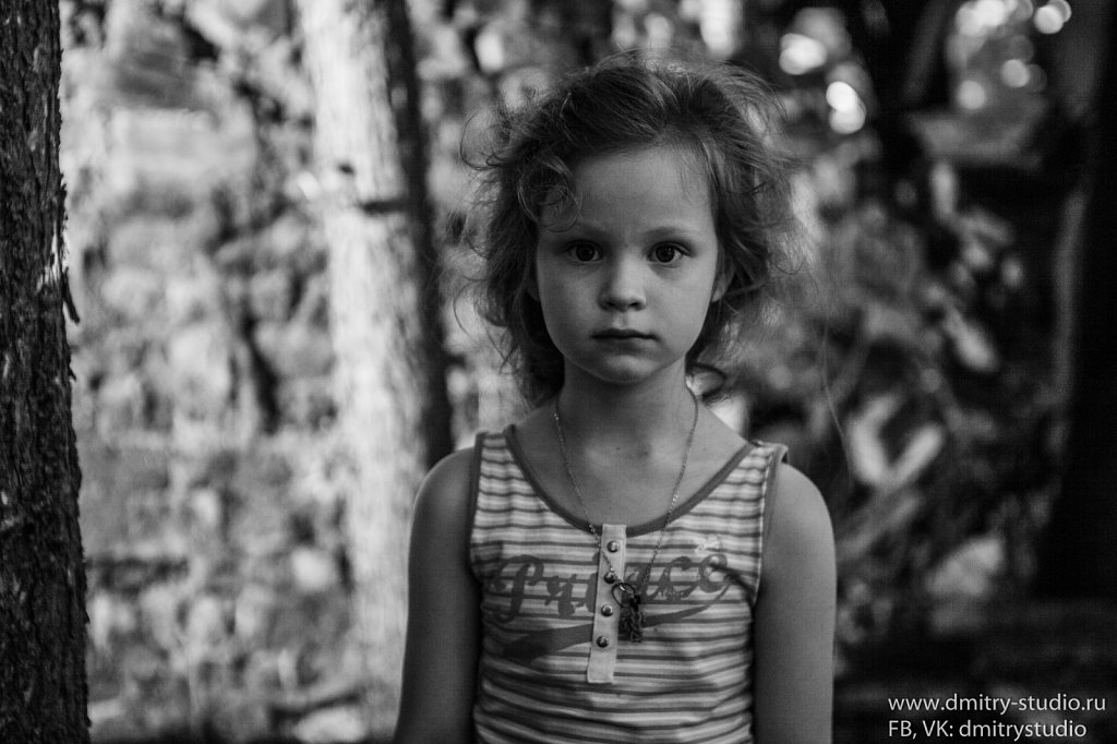 Young Girl BW